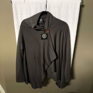 Bobeau One Button Fleece Cardigan. NWT!!